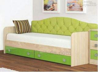 Детская кровать Колибри с мягкой спинкой