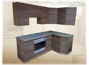 Кухня угловая без ручек с профилем GOLA