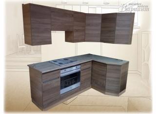 Кухня угловая без ручек с профилем GOLA 2х1,3м