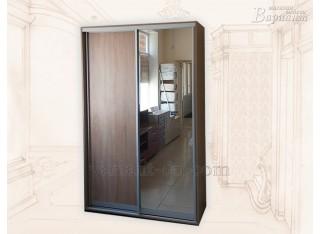 Шкаф-купе 2-х дверный с зеркалом